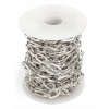 Chain Silver Lead And Nickel Free 12x7mm